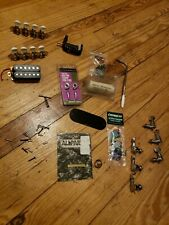 Lot of Guitar Tuners, slide, capo, picks, pickup, & Parts