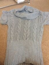 Monsoon Grey knitted Jumper with short sleeves  size M