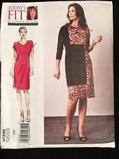"""Vogue Seam Detail Dress All Sizes Bust: 32""""-55"""" Sewing Pattern V1336"""
