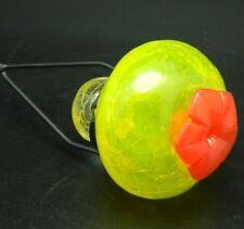 "Hummingbird Top Feeder 30"" Stake Yellow Garden Glass New Nectar Bird Splender"