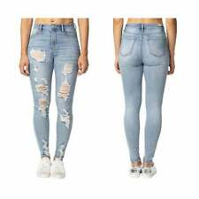 Almost Famous Chewy Destructed Ankle Stretch Denim High Rise Jean