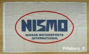 Nismo 3x5 ft Flag Banner for Nissan Car Racing JDM Motorsport