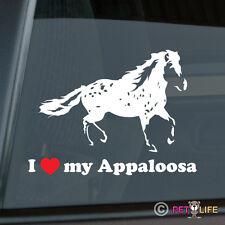 I Love my Appaloosa Sticker Die Cut Vinyl Stock Horse