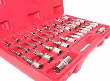 """35pc Torx E-Socket Star Tamperproof Sockets Bit Set 1/4"""", 3/8"""" & 1/2"""" Drive Bits"""
