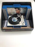 Elvis Presley turntable music lights animated ornament. Blue Christmas...
