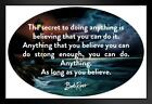 Bob Ross Believe You Can Motivational Quote Black Wood Framed Poster 14x20  inch