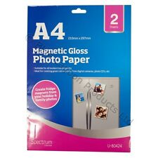 2 x A4 Magnetic Gloss Photo Paper Inkjet Fridge Magnet Printing Print Magnet