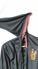 Harry Potter Hooded Cape Halloween Robe Costume Rubies Gryffindor Size M Black