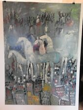 Purvis Young PRICED TO SELL!! Print SIGNED Outsider Black Folk Art