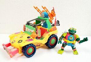 1991 Playmates TMNT Teenage Mutant Ninja Turtles Mikes Kowabunga Surf Buggy