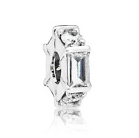 Fashion 925 Silver White Crystal CZ Charm European Beads Fit Necklace Bracelet !