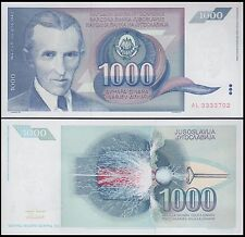 Yugoslavia 1,000 (1000) Dinara, 1991, P-110, UNC