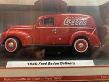 Coca Cola Ford 1940 Sedan Delivery 1:24 Diecast Collectible