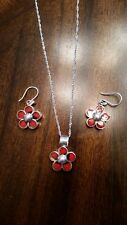 950 Peruvian Silver Jewelry Necklace Earrings with Natural Seeds, Women Gift
