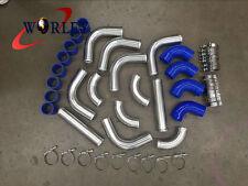 "BLU Aluminum Universal Intercooler Turbo Piping + hose + T-Clamp kits 12pcs 2.5"""