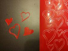 Stickerbogen, Herzen, Rot Nr. 120