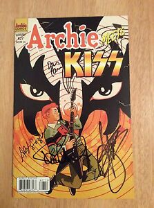 SIGNED x4 Archie Meets KISS Comic Variant 627 Gene Simmons Paul Stanley + Pics