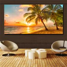 Large art prints Home Decor Canvas Painting Wall Art Beautiful Yellow Beach