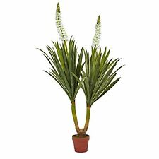 """Nearly Natural 6864 Flowering Yucca Plant- 57"""" New"""