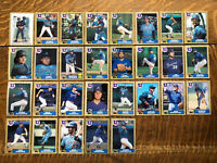 1987 ATLANTA BRAVES Topps COMPLETE MLB Team SET 29 Cards MURPHY SUTTER GRIFFEY
