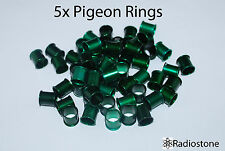 8 mm. Pigeon Rings Aluminum Rings, Bands For Pigeons 5 pcs Green. USA Seller