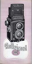 [SJ5] brochure ROLLEICORD III