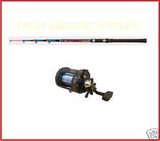 TELESCOPIC / TRAVEL BOAT FISHING ROD + MULTIPLIER REEL