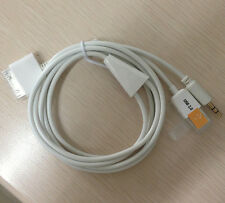 3FT 30 pin Dock to USB AUX 3.5mm Audio Cable for iPhone 4S 3GS iPod Touch 3 4
