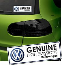VW Emissions Funny Car Sticker Humour T5 Golf High Genuine