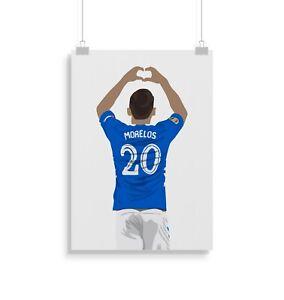 Alfredo Morelos, Rangers, football, poster, print, gifts, wall art, home decor