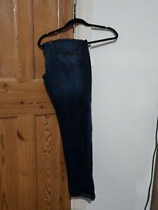 Mens levis 511 blue jeans slim fit W36 L34