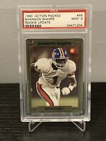 1990 Action Packed #46 Shannon Sharpe Rookie Update PSA 9 - Denver Broncos 🔥📈