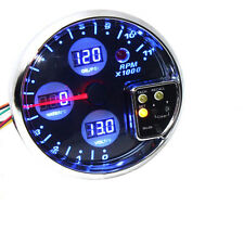 "5"" DIGITAL 4IN1 TACHOMETER WATER TEMP  VOLT VOLTAGE OIL PRESS PRESSURE GAUGE W8"