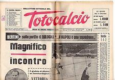 rivista BOLLETTINO UFFICIALE DEL TOTOCALCIO 8  NOVEMBRE 1966 NUMERO 36