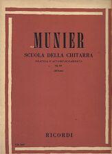 MUNIER Scuola della Chitarra pratica dell'accompagnamento Op.137 SPARTITO SHEET