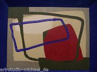 Michael Feicht (geb. 1959) Grüne und blaue Figuren mit roter Flächenkomposition