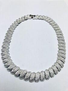 Vintage Napier Silver Collar Necklace