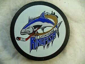 ECHL Baton Rouge Kingfish 10th Reverse Official Logo Hockey Puck Collect Pucks
