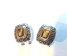 Designer Inspired Golden Topaz Gemstone Earrings