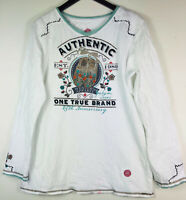 DOUBLE D RANCH 1X 16 18 Top Shirt Tunic Western Boho Embroidered *FLAW*