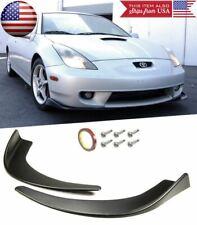 Front Bumper Lip Diffuser Fin Spoiler Splitters Winglet Blade For Mazda Subaru