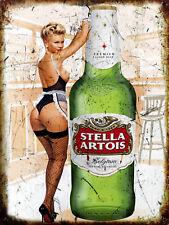 Sexy Stella Girl Retro metal Sign vintage / man cave / garage / Shed Gift