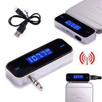 Mini Wireless Car FM Transmitter Radio for MP3 Music Player iphone ipod samRKFA