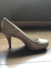 Steve Madden Girl Womens Ladies Getta Biege/Nude Glossy Heels Pumps Size 7