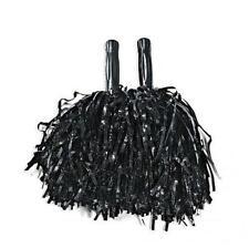 Metallic Black Pom Poms (1 dozen) - Bulk [Toy]