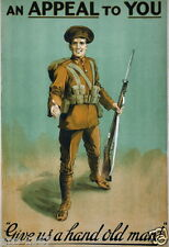 WW1 World War 1 propaganda Recruitment Ireland poster photo 100 years 1914-2014