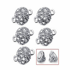 Rhinestone Magnetic Clasp Hook for DIY Bracelet Necklace Chain Jewelry Finding