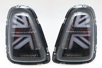 LED Tail Lights For 2010-2013 Mini Cooper R56 R57 R58 R59 - UNION JACK SMOKE