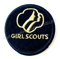 NEW Girl Scout Patch 3-Face Profiles Navy & Gold CHRISTMAS GIFT VOLUME DISCOUNT