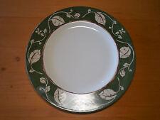 "Wedgwood England Home LEAF & VINE Set of 3 Dinner Plates 11"" Green Rim Leaves"